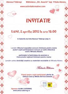 invitatie mare inimioare